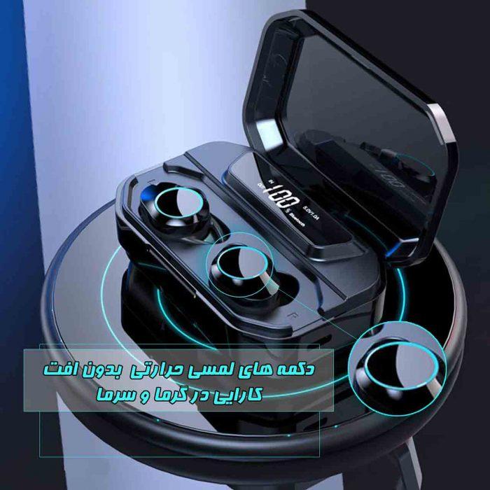 هدفون بی سیم نورمس مدل NURBUDS M11 دارای دکمههای لمسی با کیفیت بالا