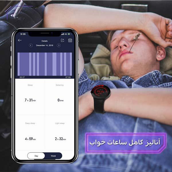 ساعت هوشمند نورمس مدل NURKELLO TE3 با آنالیز خواب