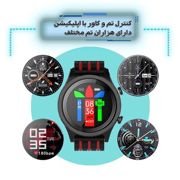 ساعت هوشمند نورمس مدل NURKELLO TE5 امکان تنظیم تم و کاور