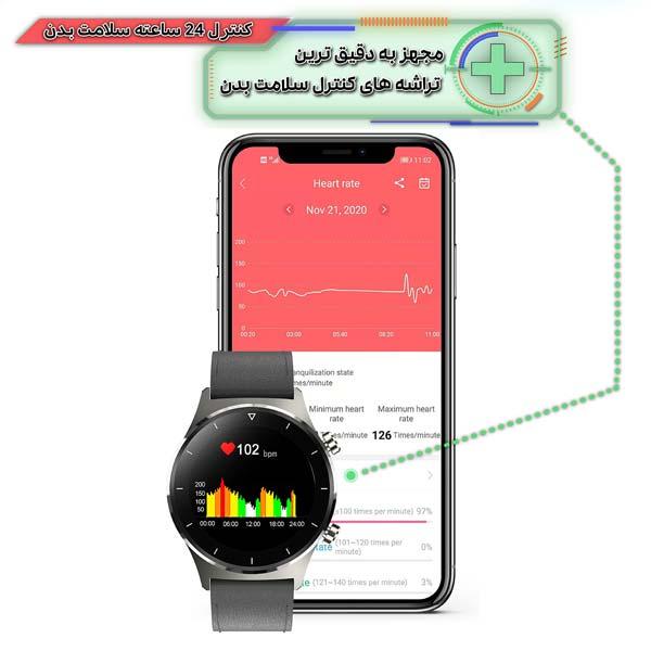 ساعت هوشمند نورمس مدل NURKELLO TE13 رصد 24 ساعته وضعیت سلامتی بدن