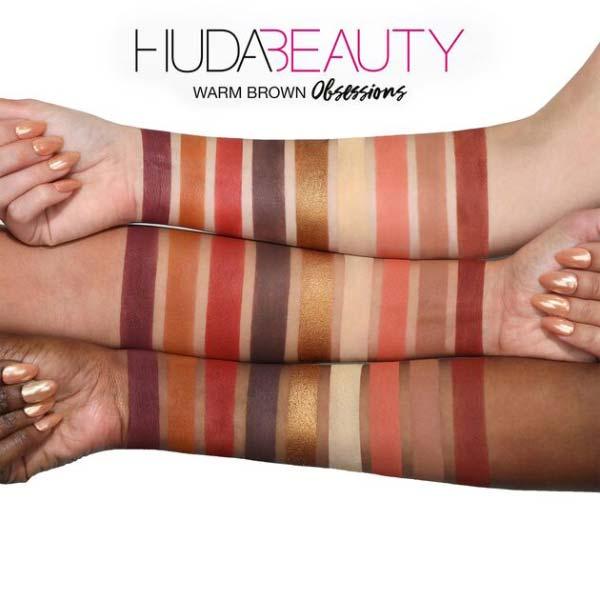پالت سایه 9 رنگ وارم برون هدی بیوتی مناسب برای انواع پوست