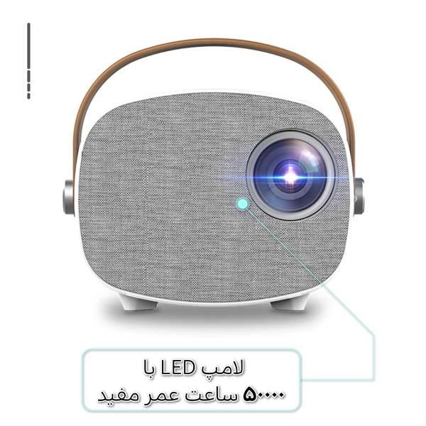 ویدئو پروژکتور و سینما خانگی امپلاتون مدل YG-230 لامپ ال ای دی دوام بالا